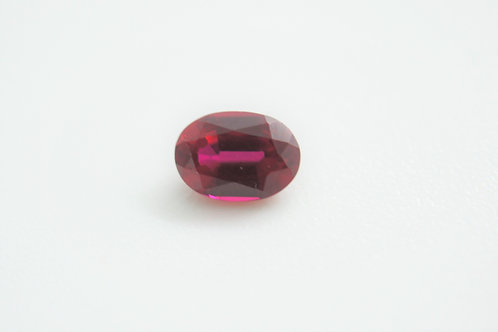 Created Ruby Pigeon Blood, Oval 7x5 mm, Weight 1.08 cts