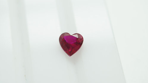Floating Ruby, Heart 5x5 mm