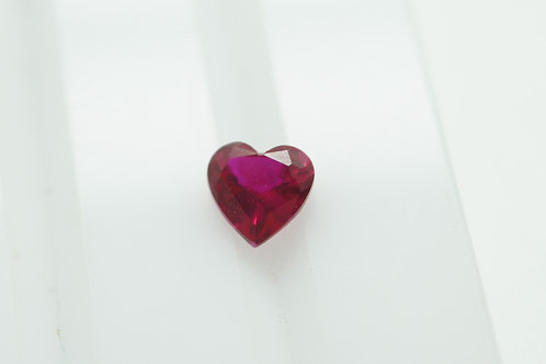 Floating Ruby, Heart 5x5 mm, stones are eye-clean.