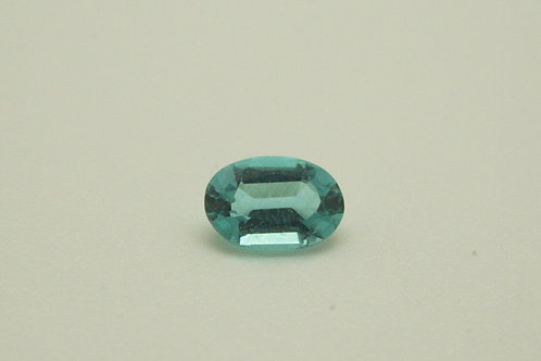 Hydrothermal Beryl Paraiba color, Oval 6x4 mm, Weight 0.46 cts