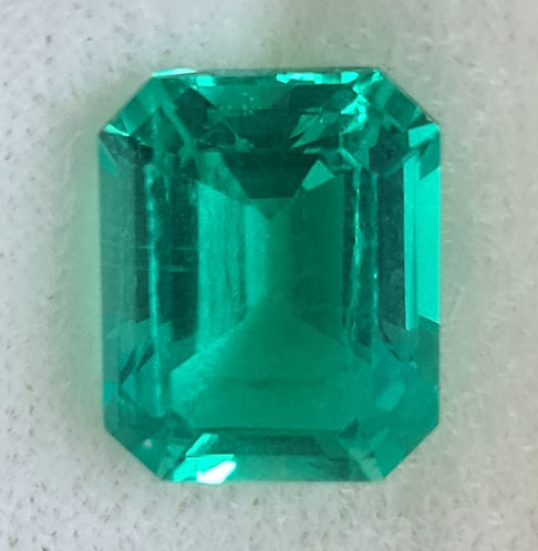 Columbian color created Emerald 11x9 mm octagon 4.3 ct