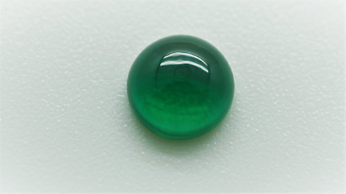 Hydrothermal Emerald Regular color, Round Cabochon 8 mm, Weight 1.84 cts.