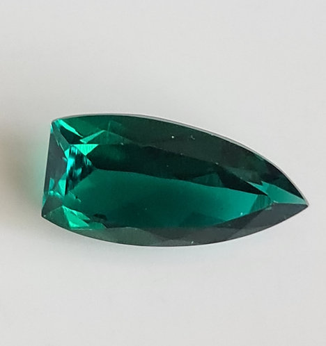 Bullet shape 14x7 mm Created Emerald