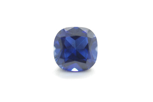 Created Blue Sapphire Cornflower color, Cushion 10x10 mm, Weight 5.91 cts