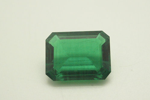 Hydrothermal Emerald Colombian color, Octagon 17x13 mm, Weight 10.59 cts