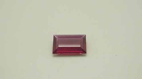 Hydrothermal Ruby, Baguette 10.5 x 6.5 mm,Weight 2.00 cts