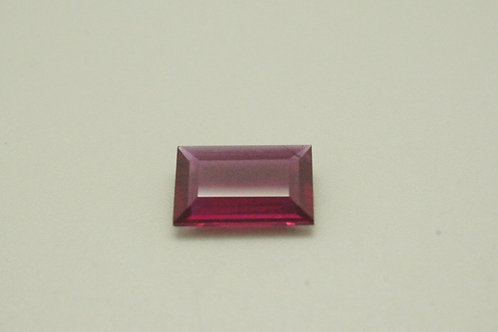 Hydrothermal Ruby, Baguette 10.5 x 6.5 mm, Weight 2.00 cts