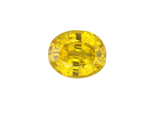 3 ct and up, Hydrothermal Yellow Sapphire Oval