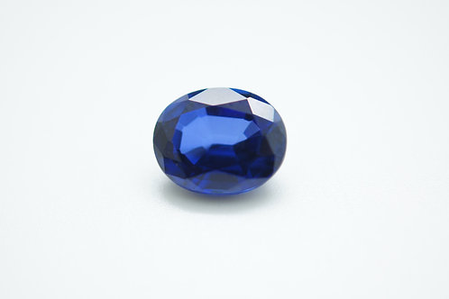 Created Blue Sapphire Ceylon color, Oval shape 10x8 mm, Weight 3.60 cts