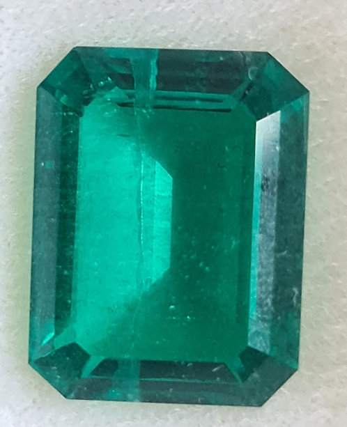 Colombian color created Emerald 17x13 octagon