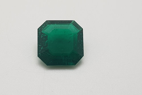 Hydrothermal Emerald Platinum color, Square Octagon 11x11 mm, Weight 4.17 cts