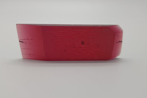 Hydrothermal Red Beryl, Thickness 5.6 mm, Length 68 mm, Weight 91.36 cts
