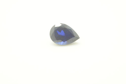 Created Dark Blue Sapphire, Pear 7x5 mm, Weight 0.94cts