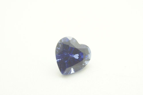 Created Blue Sapphire Ceylon color, Heart 6x6 mm, Weight 1.08 cts