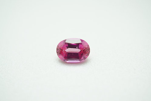 Hydrothermal Padparadscha, Oval 7x5 mm, Weight 1.08 cts