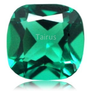 Created Emerald Colombian Color Cushion