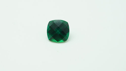 Hydrothermal Emerald Regular color,Antique Checkerboard 7X7 mm, Weight 1.20 cts