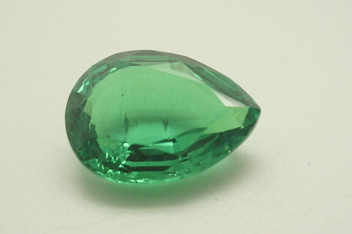 Hydrothermal Emerald Colombian color, Pear 16x12 mm, Weight 7.18 cts