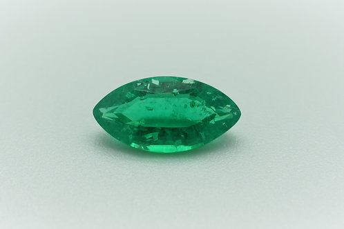 Hydrothermal Emerald Colombian Color, Marquise shape 14.6x7.6 mm, Weight 2.94cts
