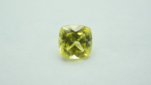 Hydrothermal Yellow Sapphire, Antique Cushion 9.4x9.4 mm, Weight 4.73 cts
