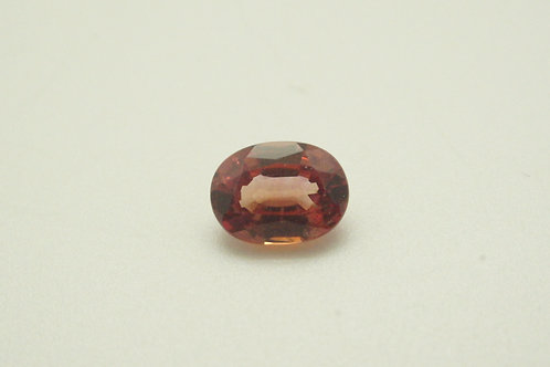 Hydrothermal Cognac Padparadscha, Oval 8x6 mm, Weight 1.72 cts