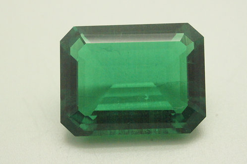 Hydrothermal Emerald Colombian color, Octagon 16.8x13 mm, Weight 11.53 cts