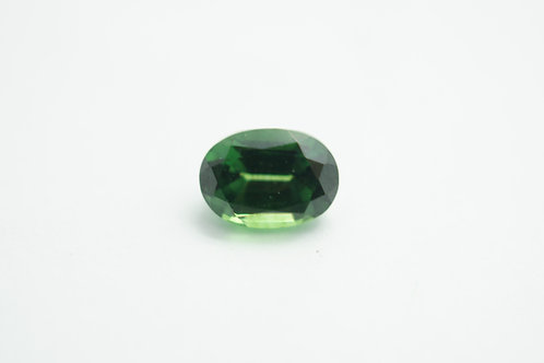 Hydrothermal Green SapphireOval 7x5 mm. Weight 1.20 cts.