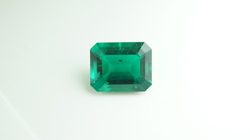 Hydrothermal Emerald Colombian color, Octagon 10x8, Weight 2.76 cts