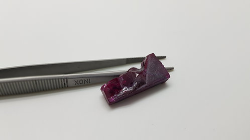 Floating Ruby, Length 27 mm, Weight 24.71 cts