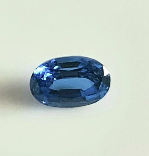 Blue sapphire hydrothermal 6X4 oval