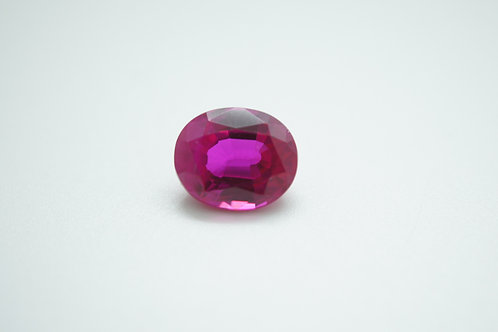 Created Pink Sapphire, Oval 11x9 mm, Weight 5.14 cts