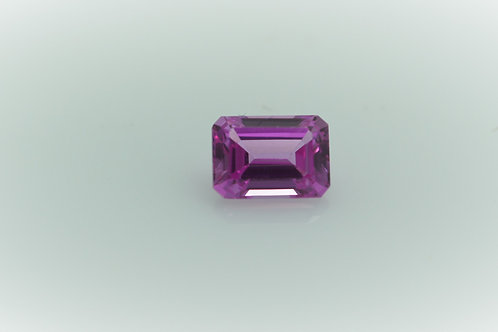 Created Pink Sapphire, Octagon 7x5 mm, Weight 1.37 cts. Stone is eye-clean