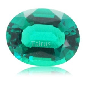 Created Emerald Colombian Color Oval