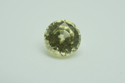 Hydrothermal Yellow Sapphire, Round 6.5 mm, Weight 1.44 cts