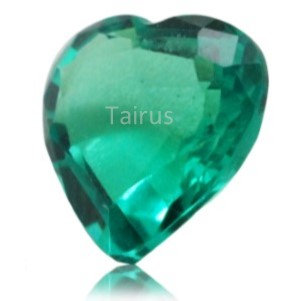 Created Emerald Colombian Color  Heart