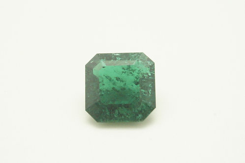 Hydrothermal Emerald Platinum color, Square Octagon 11x11 mm, Weight 4.64 cts