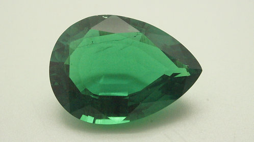 Hydrothermal Emerald Colombian color, Pear 21x16 mm, Weight 15.95 cts