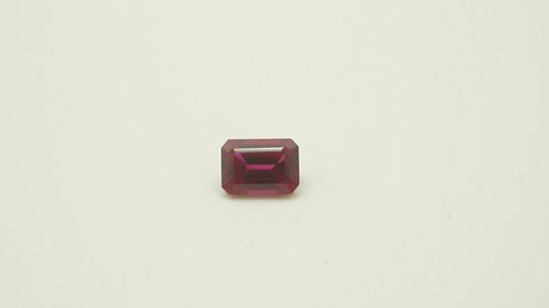 Floating Ruby, Octagon shape 7x5 mm, Weight 1.37cts
