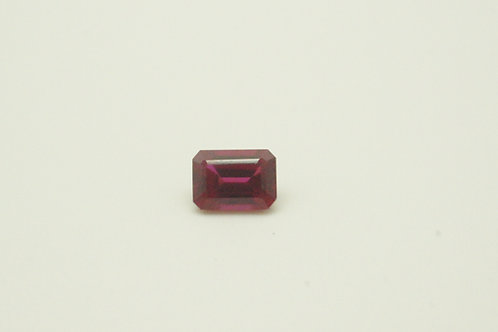 Floating Ruby, Octagon shape 7x5 mm, Weight 1.37 cts