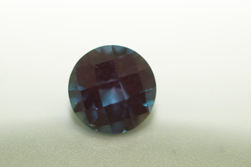Pulled Alexandrite, Round Checkerboard 7 mm, Weight 1.56 cts