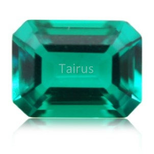 Created Emerald Colombian Color  Octagon
