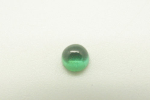 Hydrothermal Emerald Regular color, Round Cabochon 4mm, Weight 0.28 cts