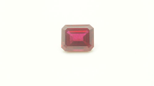 Hydrothermal Ruby, Octagon 11x9 mm,Weight 5.82 cts