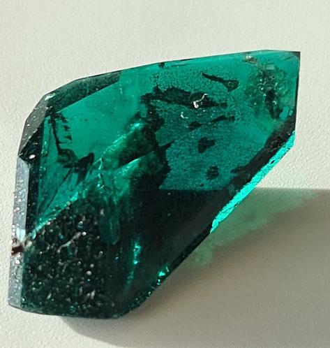 Created emerald regular color rough strange crystal