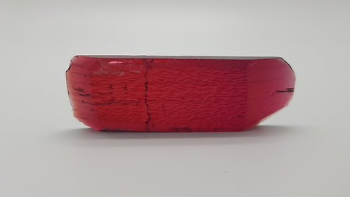 Hydrothermal Red Beryl, Thickness 5.3 mm, Length 74 mm, Weight 91.23 cts