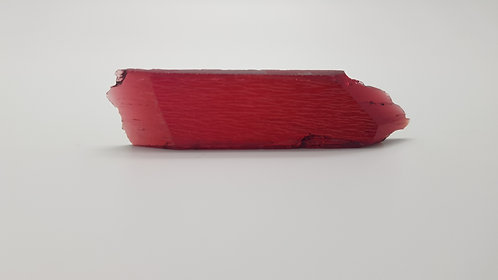Hydrothermal Red Beryl, Thickness 5.2 mm, Length 75 mm, Weight 72.99 cts