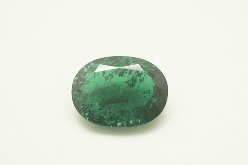 Hydrothermal Emerald Platinum color, Oval 16x12 mm, Weight 7.13 cts