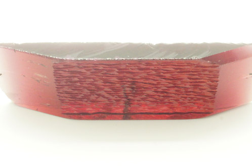 Hydrothermal Maroon color Beryl, Length 73 mm, Weight 107.14 cts
