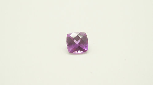 Created Pink Sapphire, Antique Cushion Checkerboard cut 6x6mm, Weight 1.31cts