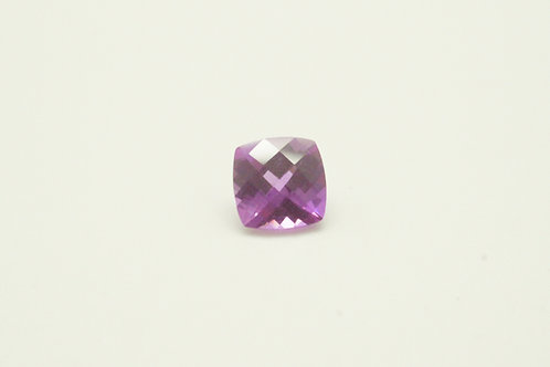 Created Pink Sapphire, Antique Cushion Checkerboard cut 6x6 mm, Weight 1.31 cts